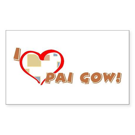 Pai Gow Rectangle Sticker