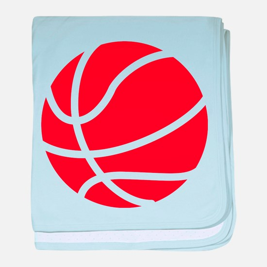 Basketball Red baby blanket