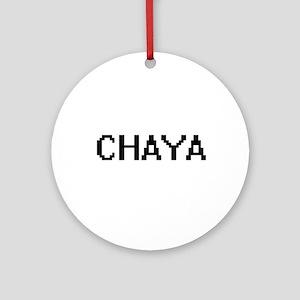 Chaya Digital Name Ornament (Round)