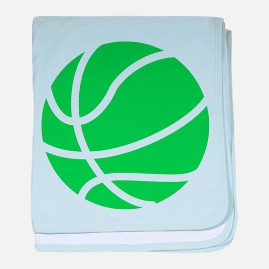 Basketball Lime baby blanket
