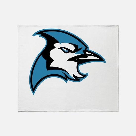 Bluejay Head Throw Blanket
