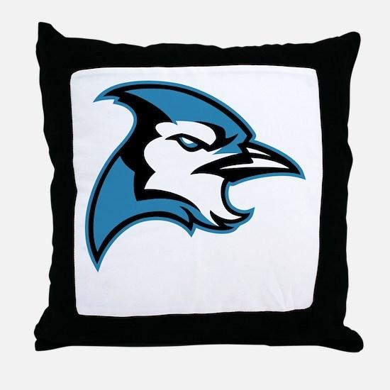 Bluejay Head Throw Pillow