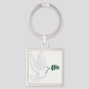 Peace! Square Keychain