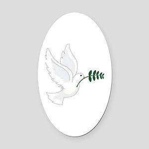 Peace! Oval Car Magnet