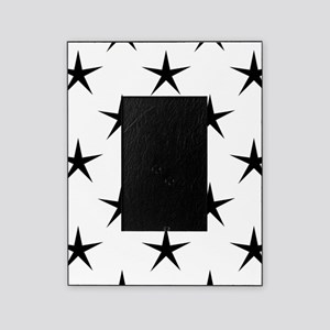 White and Black Star Pattern Picture Frame