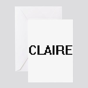Claire Digital Name Greeting Cards