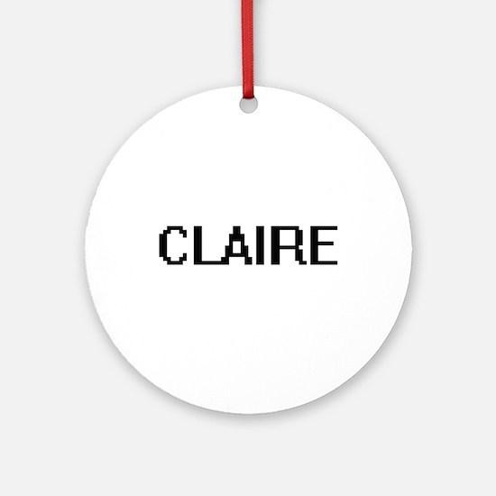 Claire Digital Name Ornament (Round)