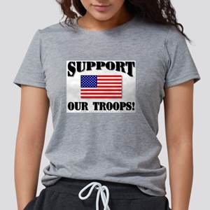 Support Our Troops Flag Ash Grey T-Shirt