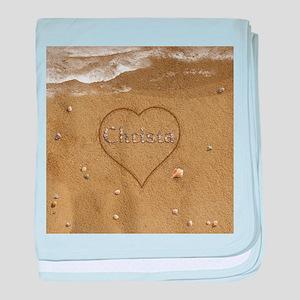 Christa Beach Love baby blanket