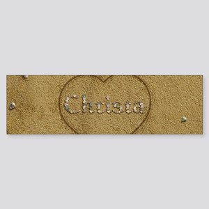 Christa Beach Love Sticker (Bumper)