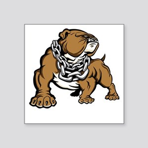 Bulldog With Chain Sticker