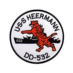 USS HEERMANN Button