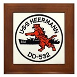 USS HEERMANN Framed Tile