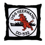 USS HEERMANN Throw Pillow