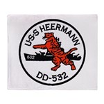 USS HEERMANN Throw Blanket