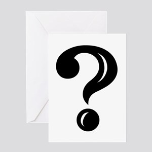 Question Mark Greeting Card