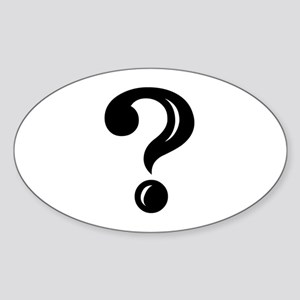 Question Mark Oval Sticker