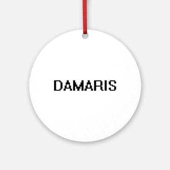Damaris Digital Name Ornament (Round)