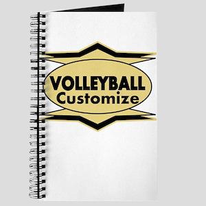 Volleyball Star stylized Journal