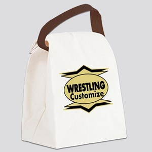 Wrestling Star stylized Canvas Lunch Bag