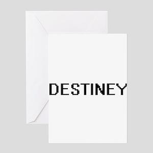 Destiney Digital Name Greeting Cards