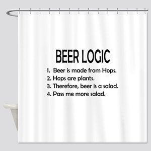 BEER LOGIC Shower Curtain