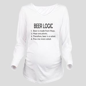 BEER LOGIC Long Sleeve Maternity T-Shirt