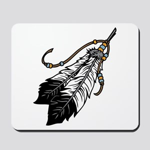 Native American Feathers Mousepad