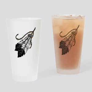 Native American Feathers Drinking Glass