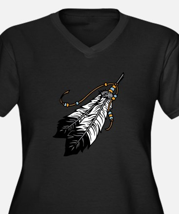 Native American Feathers Plus Size T-Shirt