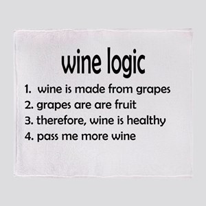 wine logic Throw Blanket