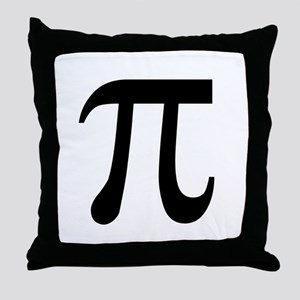 Pi Symbol Throw Pillow
