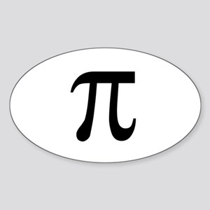 Pi Symbol Oval Sticker