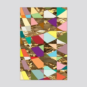 Abstract Colors Gold Foil Mini Poster Print