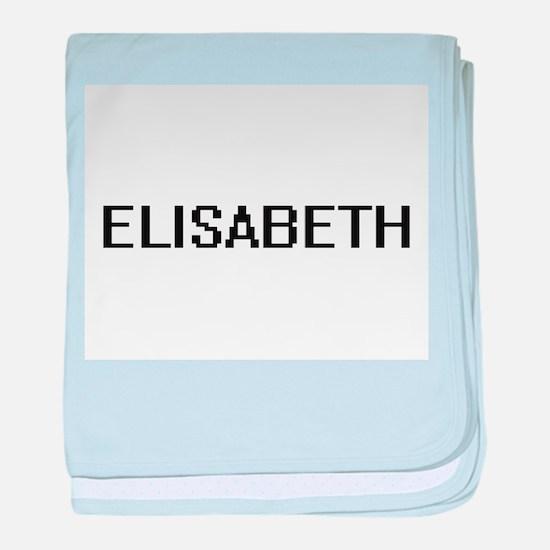 Elisabeth Digital Name baby blanket