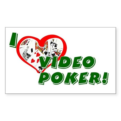 Video Poker Rectangle Sticker