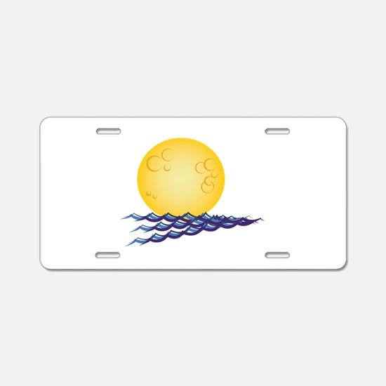 Moon On Water Aluminum License Plate
