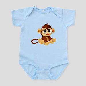 Little Baby Monkey with Sad Eyes Body Suit