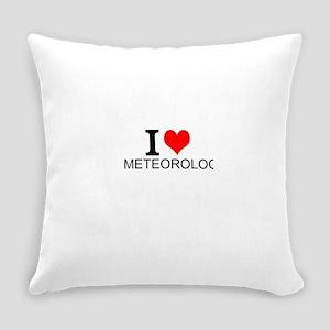 I Love Meteorology Everyday Pillow