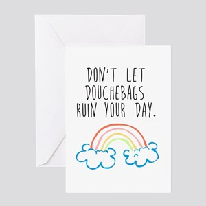Douchebags Greeting Cards