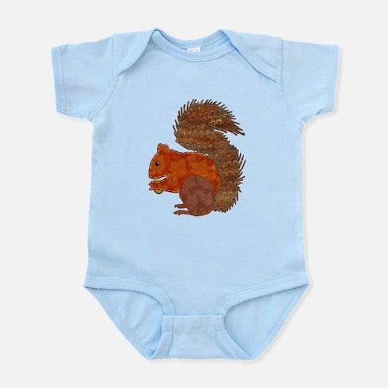 Fabric Applique Squirrel Body Suit
