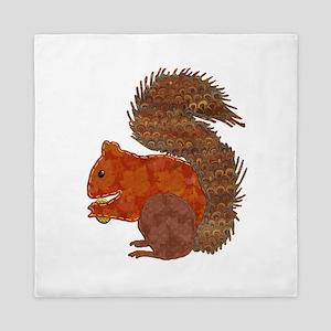 Fabric Applique Squirrel Queen Duvet