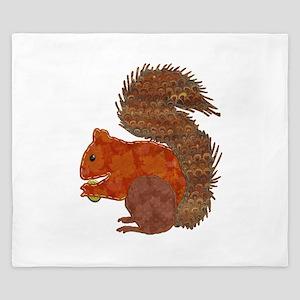 Fabric Applique Squirrel King Duvet