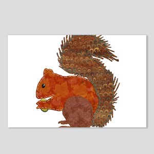 Fabric Applique Squirrel Postcards (Package of 8)
