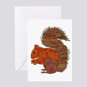 Squirrel nuts greeting cards cafepress fabric applique squirrel greeting cards m4hsunfo
