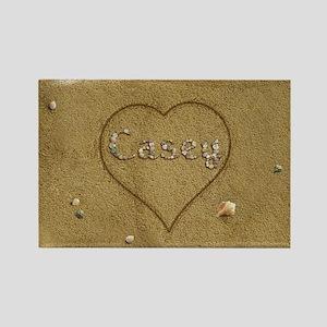 Casey Beach Love Rectangle Magnet