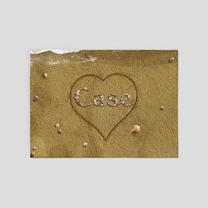 Case Beach Love 5'x7'Area Rug
