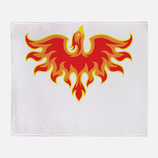 Fire Falcon Throw Blanket
