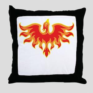 Fire Falcon Throw Pillow