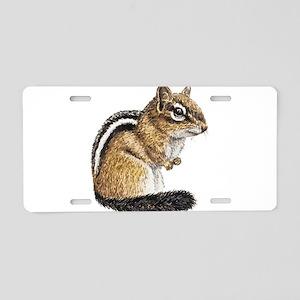 Chipmunk Cutie Aluminum License Plate